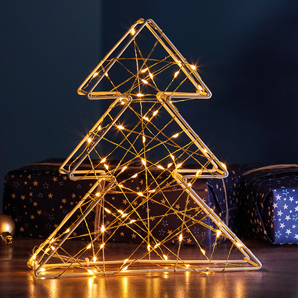 70 LED 3D Gold Xmas Tree Light G4323 No Colour