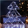 70 LED 3D Xmas Tree Light - Silver