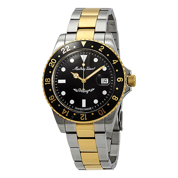 Mathey-Tissot Gent's Rolly Automatic Two Tone with Stainless Steel Bracelet Black