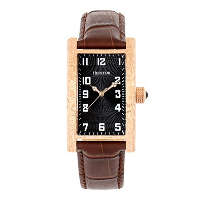 Heritor Gent's Automatic Jefferson Watch with Genuine Leather Strap