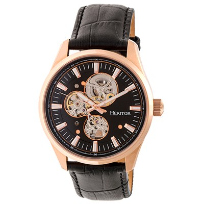 Heritor Gent's Automatic Stanley Watch with Genuine Leather Strap