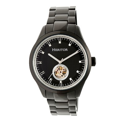 Heritor Gent's Automatic Crew Watch with Stainless Steel Bracelet & Wallet
