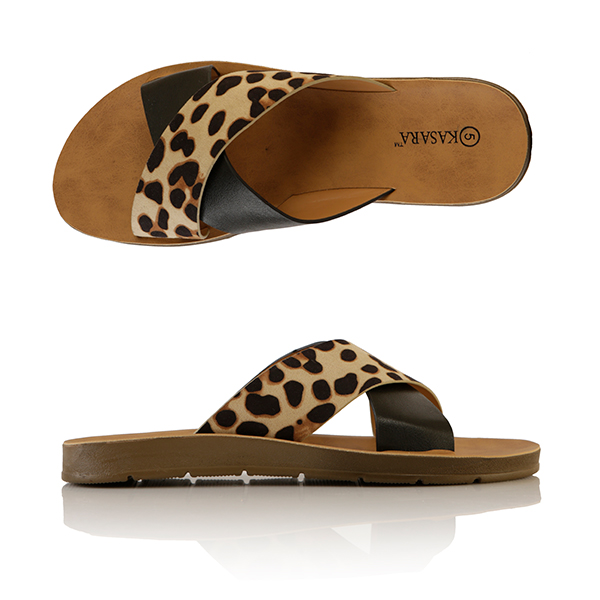 Kasara Animal Mule Sandals Black