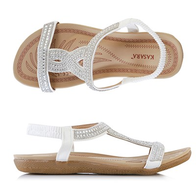 Kasara Diamante Sandals