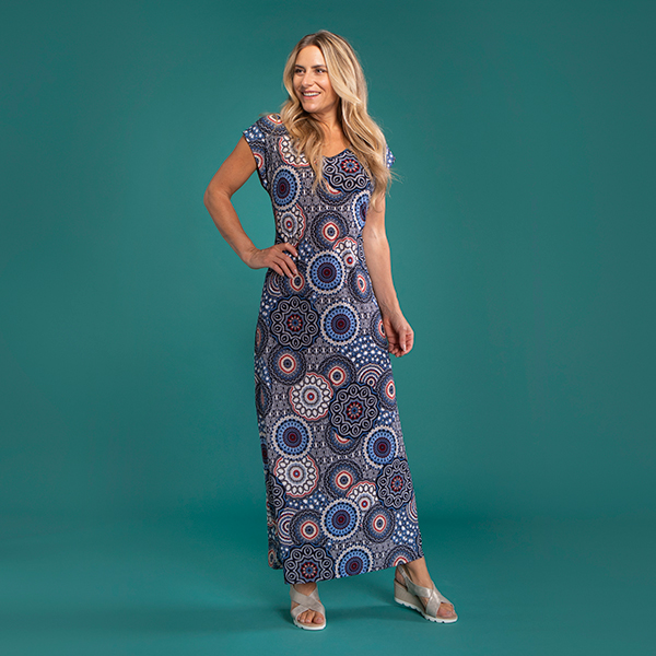 Kasara Dress Blue Circle