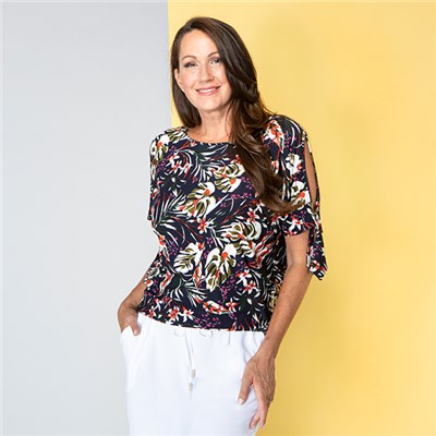 Emelia Cold Shoulder Top