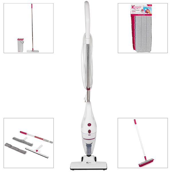 Kleeneze Cleaning Bundle inc. Stick Vac, Mop & Bucket, Rubber Brush, Window Kit and Cloths No Colour