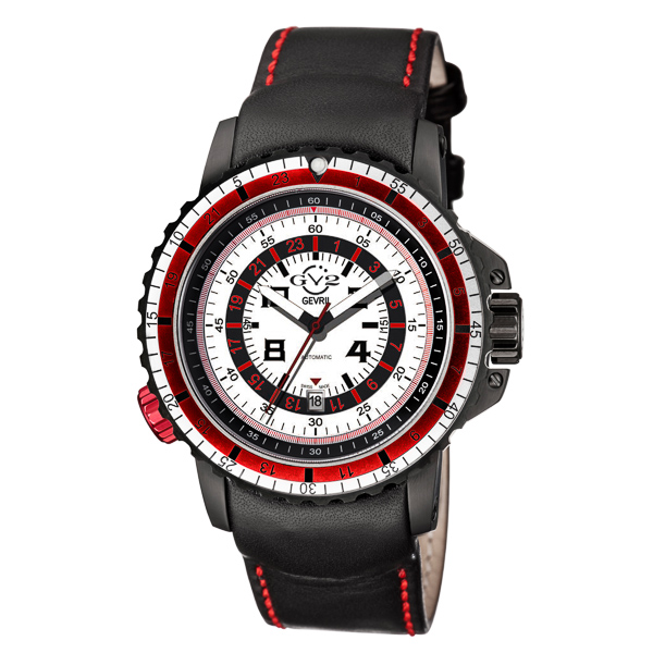 GV2 Gent's Contasecondi Ltd Edt MD3G Automatic Watch with Genuine Leather Strap Red