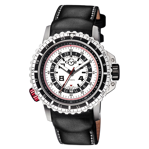 GV2 Gent's Contasecondi Ltd Edt MD3G Automatic Watch with Genuine Leather Strap & Pen Silver