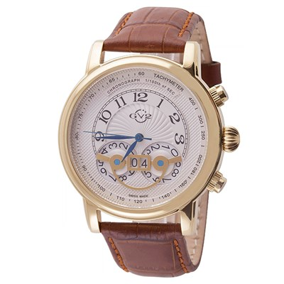 GV2 Gent's Montreux Ltd Edt Swiss Chronograph Watch with Genuine Leather Strap & Pen