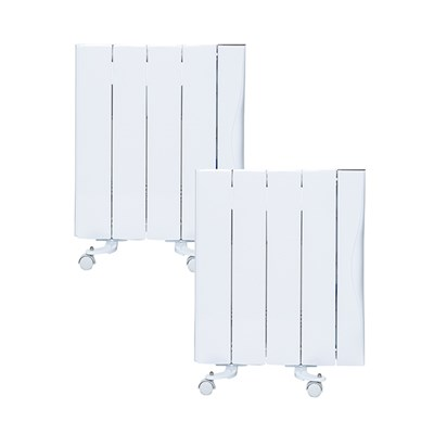 Warm Home 1000W Ceramic Radiator (Twin Pack)