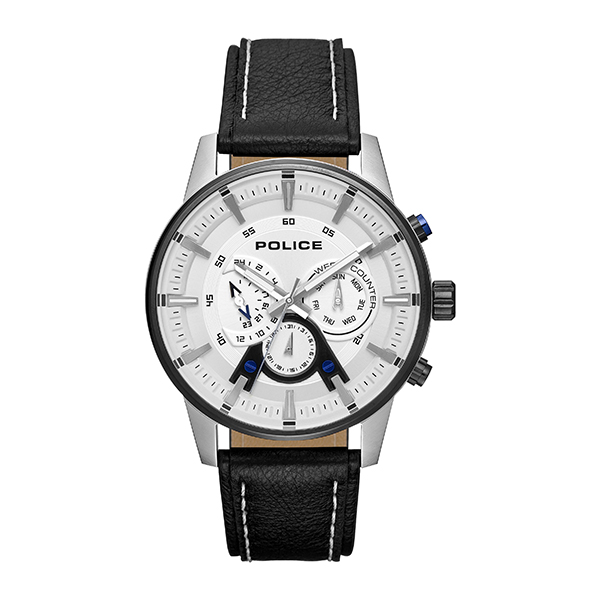 Police Gent's Avondale Watch with Genuine Leather Strap Black