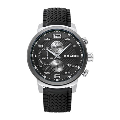 Police Gent's Bromo Watch with Silicone Strap