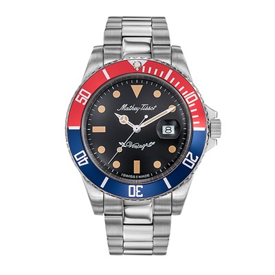 Mathey-Tissot Gent's Rolly Quartz with Stainless Steel Bracelet