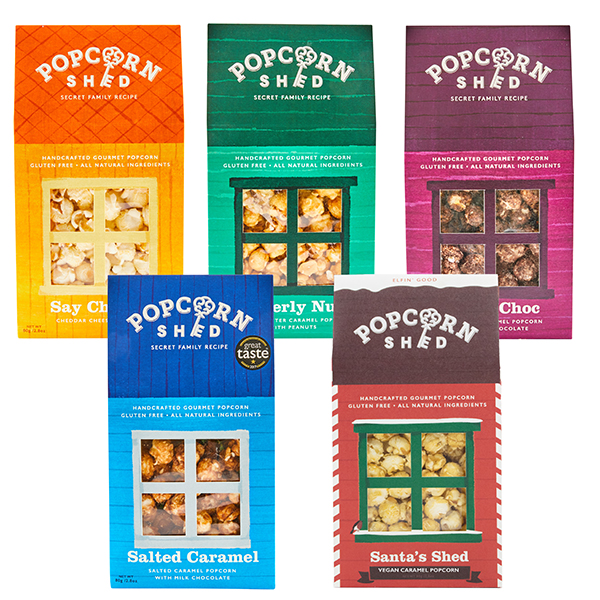 Popcorn Shed 6-Shed Gourmet Popcorn Selection Pack No Colour
