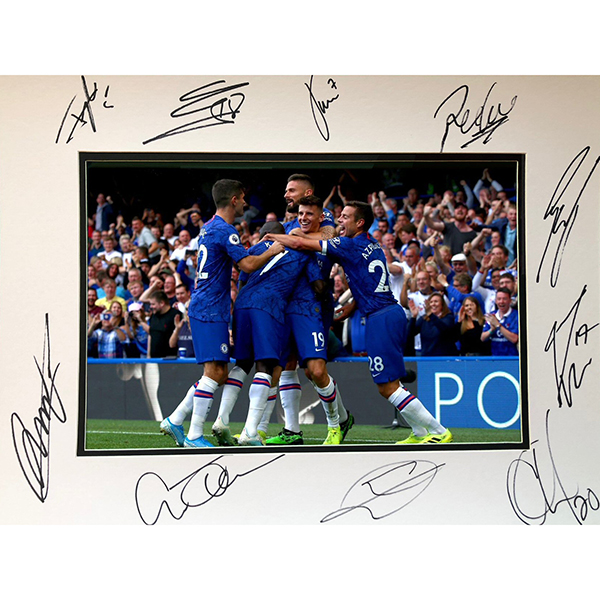Chelsea FC Framed Multi Signed Photo Mount No Colour