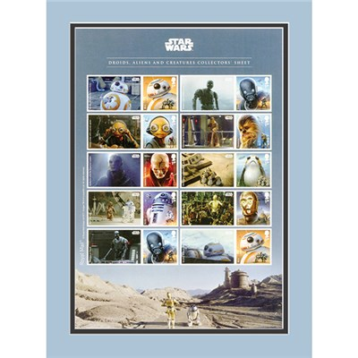 Star Wars IW Exclusive Framed Droids, Aliens & Creatures Collectors Sheetlet Ltd Edition of 500 only