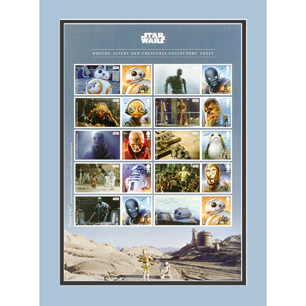Star Wars IW Exclusive Framed Droids, Aliens & Creatures Collectors Sheetlet Ltd Edition of 500 only No Colour