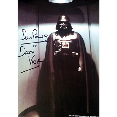 Dave Prowse as Darth Vader Full Length Personally Signed Colour Photo