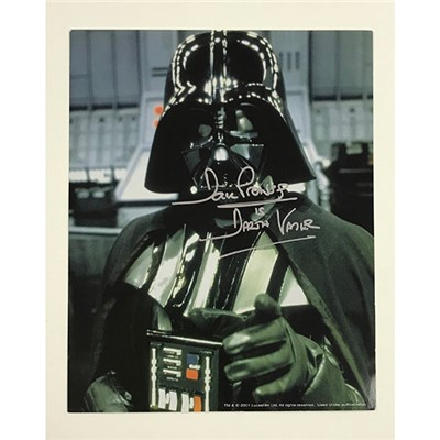 Dave Prowse as Darth Vader Head & Shoulders Personally Signed Colour Photo