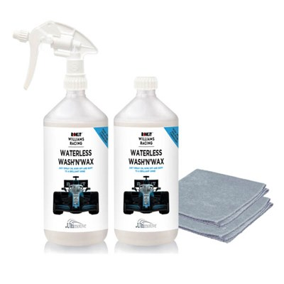 ROKiT Williams 2 x 1L with 1 Trigger & 2 Microfibre Cloths