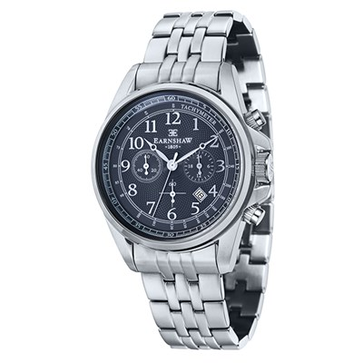 Thomas Earnshaw Gent's Commodore Chronograph Watch with Stainless Steel Bracelet