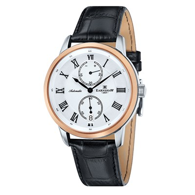 Thomas Earnshaw Gent's Chancery Automatic Watch with Genuine Leather Strap