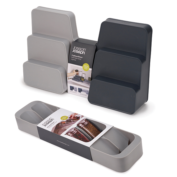 Joseph Joseph CupboardStore Expandable Tiered Organiser with DrawerStore Spice Tray No Colour