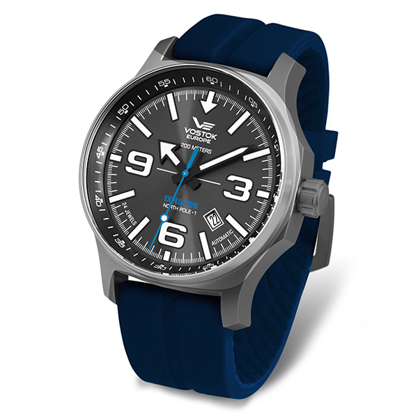 Image of Vostok Europe Gent's Automatic Expedition N1 Watch with Silicone Strap