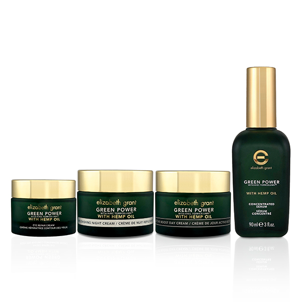 Image of Elizabeth Grant Green Power with Hemp Seed Oil 4pc Collection (Day, Night, Eye Cream and Serum)