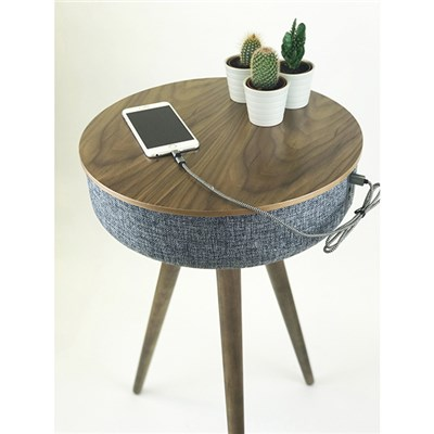 Tabblue TWS Side Table Bluetooth Sound System with Stereo Functionality