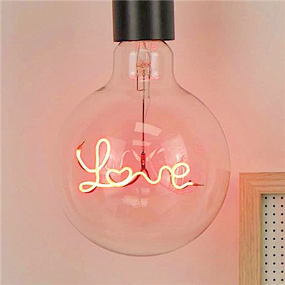 Steepletone Bright Ideas Collection LED Text Light Bulb