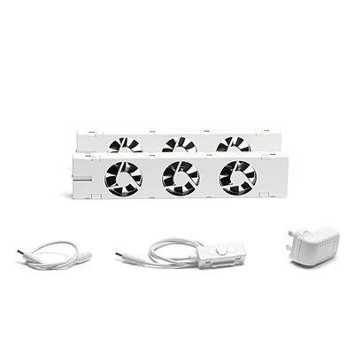 SpeedComfort Duo Kit with 2 x SpeedComfort Radiator Ventilators and Connectors