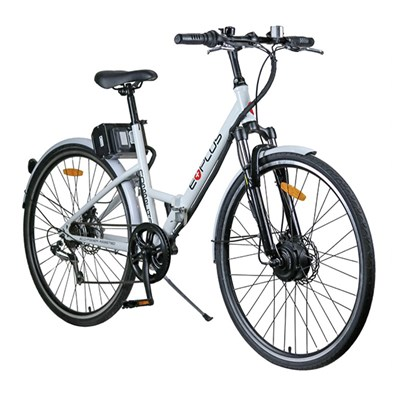 E-Plus Commute 36V 7 Shimano Speed Full Sized Folding Electric Bike