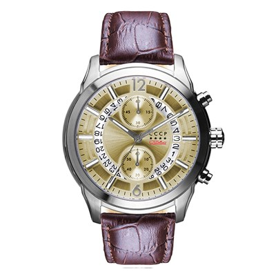 CCCP Gent's Balaklava Chronograph Watch with Genuine Leather Strap