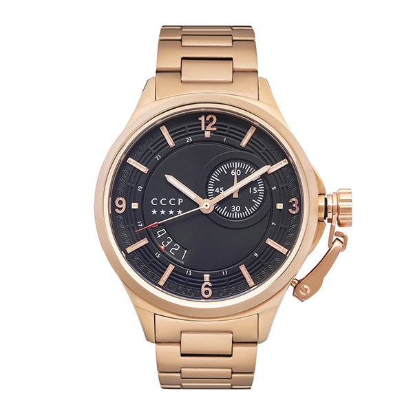 CCCP Gent's Badygin Swiss Quartz Watch with Stainless Steel Bracelet Rose Gold