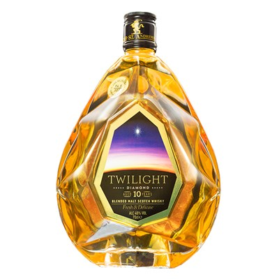 Twilight Diamond 10-Year-Old Blended Malt Scotch Whisky, The Fresh & Delicate One 70cl Old St Andrews