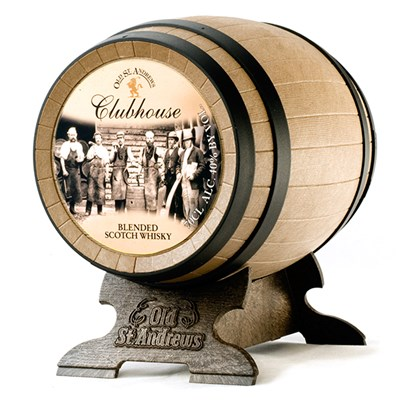 Clubhouse Whisky Barrels of Blended Scotch in Window Box Gift 70cl 40% ABV Old St Andrews
