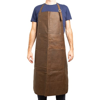 Crazy Horse Full Leather Apron in a Brown/Brush Antique
