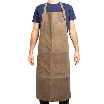 Suede Apron in a Taupe Brush Antique