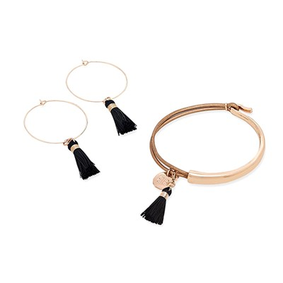 Boho Betty Haine Tassel Bracelet & Earring Boxed Set