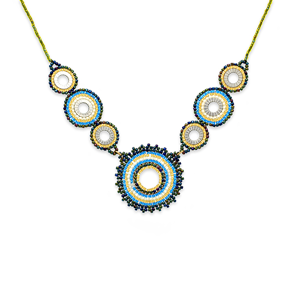 Boho Betty Demeter Beaded Necklace Teal