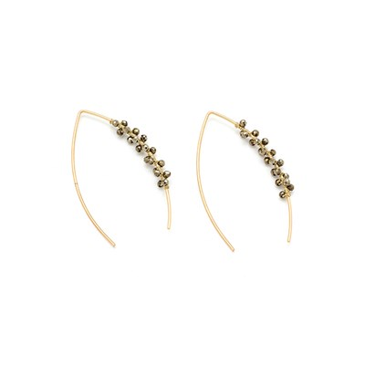 Boho Betty Boxed Cymbal Pull Through Earrings