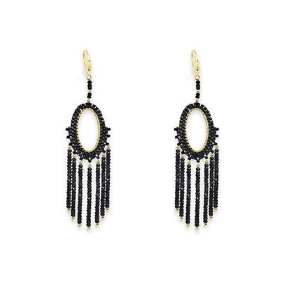 Boho Betty Bansuri Crystal Drop Earrings