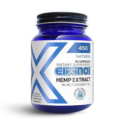 Elixinol CBD Hemp Oil 450mg (30 Capsules)