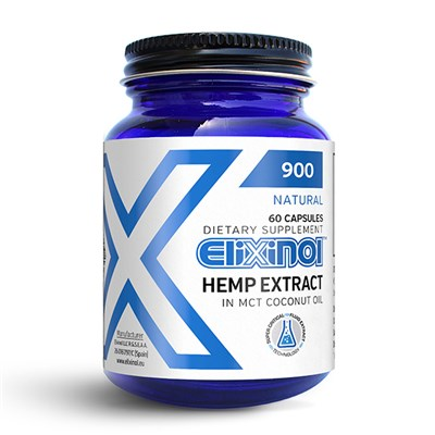 Elixinol CBD Hemp Oil 900mg (60 Capsules)