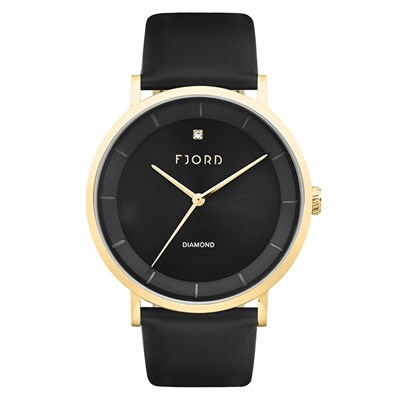 Fjord Gent's Jensen Watch with Genuine Leather Strap