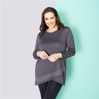 Indigo & Co Cut About Stud Tunic