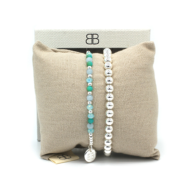 Boho Betty 2 Layer Stack Bracelet Blue