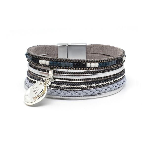Boho Betty Shrew Magnet Bracelet Grey